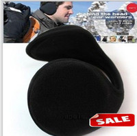 Wholesale Ear Muffs Women Men Unisex Warm Winter Plush Earmuffs Black Ear Warmers Earlap Ear Cover Outwear Riding Cycling Sports Wear gifts