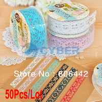 Wholesale Cheapest Cute Colorful Sweet Lace Stationery Tape Decorative Sticker DIY Tape Office Adhesive Tape