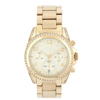 Wholesale mk Famous brand name luxury men watch diamond Crystal gold watch hours Stainless Steel Business wrist watch gift