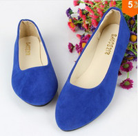 ballet flats - women s flat shoes fake suede ladies ballet shoes mother shoes casual A105401070