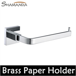 Wholesale Bathroom Accessories Product Solid Brass Chrome Toilet Paper Holder Roll Holder Tissue Holder Without Cover