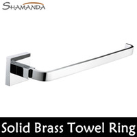 BRASS accessories bar products - Solid Brass Copper Chrome Finished Bathroom Accessories Product Square Towel Ring Towel Holder Towel Bar