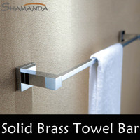 Wholesale cm Single Towel Bar Towel Holder Solid Brass Made Chrome Finished Bathroom Products Bathroom Accessories