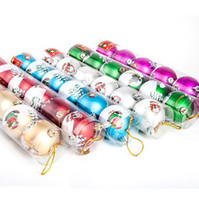 Wholesale Dia cm Color Santa Claus Printing Christmas Balls Cute Hanging Christmas Decoration SD109