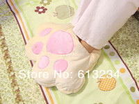 Wholesale Piece Beige Giant USB Paw Foot Warmer USB Foot Pillow