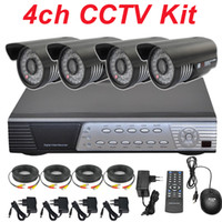 Bullet 1/3'' Sony effio-e 700TVL CCD 3.6/6mm fixed lens megapixel 4ch cctv kit sony effio 700TVL security surveillance video monitor camera whole cctv system install 4 channel HD DVR network video recorder