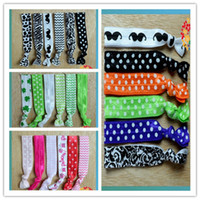 Wholesale Flover Elastic Width cm Length damask Boutique Infant headbands DHL