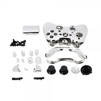 Wholesale Replacement Parts for Chrome XBOX Controller Shell Silver