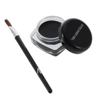 Pencil waterproof liner - Black Pro Waterproof Eye Liner Eyeliner Shadow Gel Makeup Cosmetic and Brush