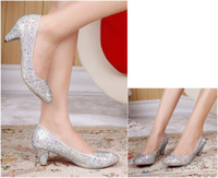 Women Pumps Spring and Fall New Diamond Wedding the bride marry crystal bridesmaid party shoes shoes in PROM dress shoes