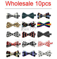 Wholesale Mens Womens Unisex Floral Check Polka Dot Stripes Print Bowtie Neckwear Bow Tie