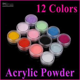 12 Colors Acrylic Powder Nail Tools 3D Nail Art Manicure Nail Tips Decoration 50sets lot