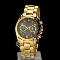 Unisex limited edition - 2015 NEW Fashion Luxury Gold Crystal Quartz Rhinestone Date MK Lady Women Wrist Watch