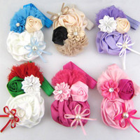 Headbands Cotton Floral Wholesale - NEW baby headband girls fashion Christmas hair accessories For baby kids headwears 6 color hairband deng 4.5
