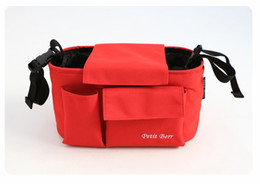 Wholesale Good Fashionable Designer Diaper Bags Multi functional Stroller Storage Bag Buggy Handbag Or Cup Holder