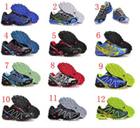 Men PVC Rubber 2014 Newest Zapatillas Salomon Speedcross 3 Running Shoes men's Walking Ourdoor Sport Athletic Shoes Free Shipping Size