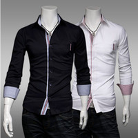 Men Silk Long Sleeve NEW Men's casual Slim long Sleeve Shirts Men'sFine lattice patch shirts Dress Shirts For Men Business Shirts cs17