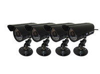 Wholesale 4 x Sony TVL CCD LED IR Day amp Night Bullet Outdoor Camera Weatherproof Security Surveillance CCTV