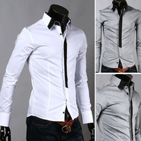 Men Silk Long Sleeve NEW Men's casual Slim long Sleeve Shirts Men's Fake tie shirts Dress Shirts For Men Business Shirts CS18