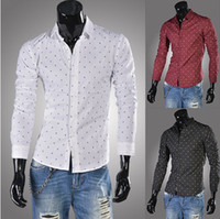 Men Silk Long Sleeve NEW Men's casual Slim long Sleeve Shirts Men's unique printing shirts Dress Shirts For Men Business Shirts 6687