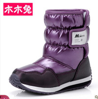 Wholesale New Arrival Children Girl Boy Waterproof Windproof Thermal Platform Snow Boots Kids Winter Shoes