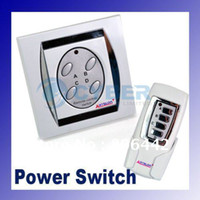Wholesale New Ports ON OFF Digital Wireless Remote Power Switch White