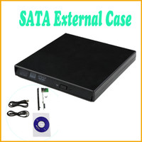 Wholesale High Quality USB DVD CD DVD Rom SATA External Case Slim For Laptop Notebook