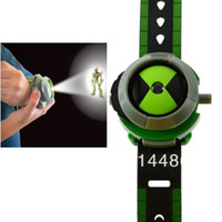 Wholesale 1pcs Cartoon BEN Kids Children Projector Watch Alien Force OMNITRIX
