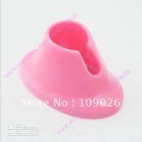 Wholesale Pink Nail Art Varnish Polish Salon Display Bottle Rubber Holder Stand