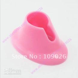 Pink Nail Art Varnish Polish Salon Display Bottle Rubber Holder Stand