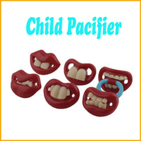 Pacifier Character THE001502-THE001505 1Pcs Baby Funny Dummy Prank Pacifier Novelty Teeth Children Child Soother Nipple Wholesale