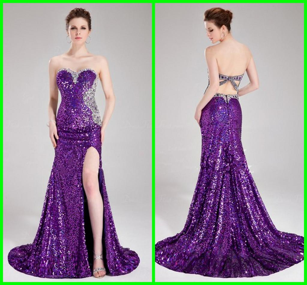 Stores Where They Sell Prom Dresses - Purple Graduation Dresses