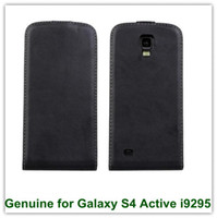 galaxy s4 active - New Arrival Magnetic Genuine Leathe Flip Cover Case for Samsung Galaxy S4 Active i9295