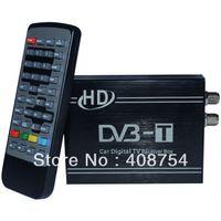 DC:5V-30V, 4W    Car Mobile digital HD TV Tuner DVB-T 1080P Receiver box , MPEG-2 MPEG-4 H.26,upto 240km hr, Europe Market,Free shipping