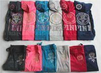 sweatsuits - Ladies Sweatsuits Long Sleeve Zipper Jogging Velour Tracksuits Pink Sweat Suits Hoodies Suits Sportswear Sports Set