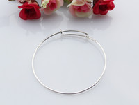 Wholesale 10PCS Round Bangle Bracelet Silver DIY Bracelet Bridesmaid Jewelry Silver Bangle Bracelet Adjustable Bangle Bridesmaid Bracelet