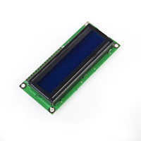 Wholesale 1pcs x2 Character LCD Display Module HD44780 Controller Blue Screen Backlight