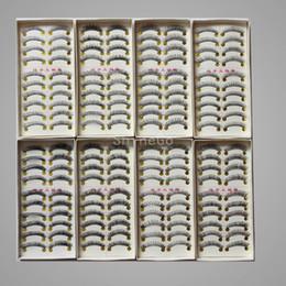 Wholesale 100 Set New High quality Long Natural False Hand Made Eyelashes eyelash MakeUp Extension lashes pairs same style in each box