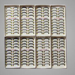 Wholesale Hot sales Long Natural False Hand Made Eyelashes eyelash MakeUp Extension lashes pairs same style in each box