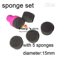 Decal 2D Metal Wholesale - [AG311]Free Shipping New Fashion Sponge Nail Art Set Stamping Art Kit with 5 Sponges