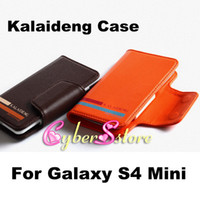 Wholesale Original KLD Kalaideng Versal Series Phone Bags Wallet Leather Case For Samsung Galaxy S4 Mini i9190 Galaxy Ace BlackBerry Z10