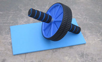 Double-Wheeled ab fitness equipment - High quality Abdominal Wheel Ab Roller With Mat For Exercise Fitness Equipment