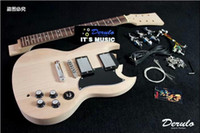 Cheap top quality DIY SG-style electric guitar kits unfinished guitar kits