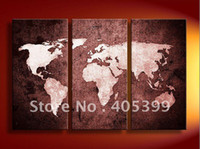 Guangdong China (Mainland) Yes Modern Framed ! World Map Framed Oil Painting ,Modern Oil Painting On Canvas JYJZ122