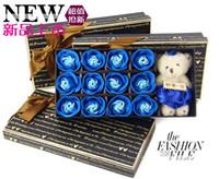 Wholesale Hot Christmas gift box rose plus Bear Simulation roses creative gifts qjq302