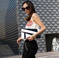 Wholesale NEW Lady handbag women New Korean black white clutch purse shoulder bag