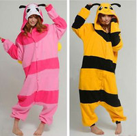 Wholesale Anime Kigurumi Pajamas Cosplay Costume unisex Adult Onesie Dress BEE