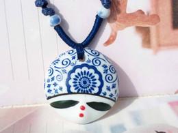 Wholesale Regalo al por mayor magnífico de la joyería de los collares pendientes de la cara hermosa china de cerámica de la nueva llegada del estilo de lujo de la vendimia XL455