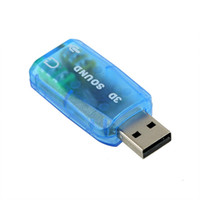 Wholesale 5Pcs USB D Sound Card Mic Speaker Audio Adapter Virtual Channel for PC or Laptop
