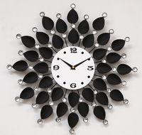 metal sunflower - Continental Iron Metal Sunflower flowers Mute wall clock table Living room quartz clock pocket watch F182